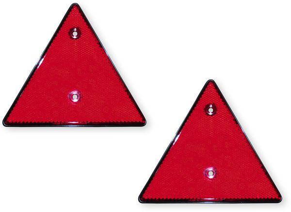 Dreieck-Reflektor-Set, rot, 2 Stück