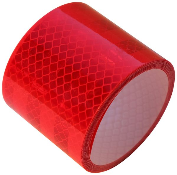 Reflektorband, rot, 2m, selbstklebend