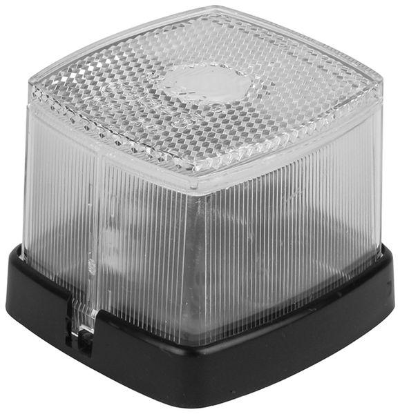 Positionsleuchte, 66x62 mm, weiß, mit Reflektor