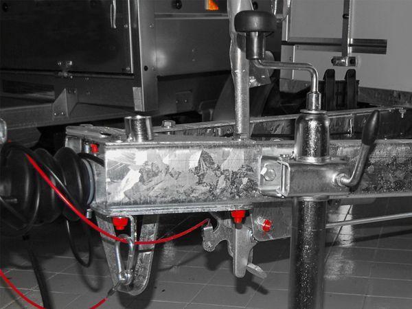 Stützradhalter, Ø 48 mm, mit Knebelfeststeller - Produktbild 3