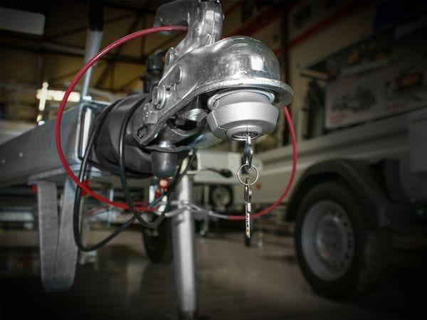 Anhänger-Diebstahlsicherung, 50 mm, Stahl, 2 Schlüssel - Produktbild 2