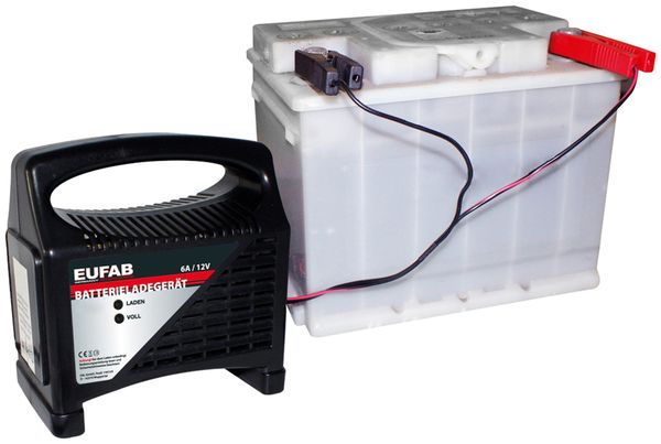 Batterie-Ladegerät EUFAB 16542, 12 V, 6 A - Produktbild 2
