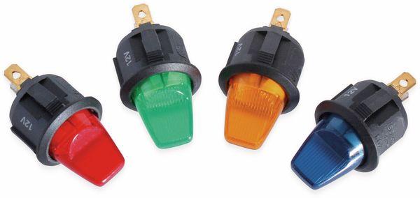 KFZ-Kippschalter, 12 V/6 A, Orange, beleuchtet - Produktbild 2