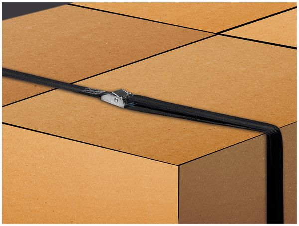 Spanngurt LAS 10321, 250x2,5 cm, mit Klemmverschluss, 250 daN, 2 Stück - Produktbild 3