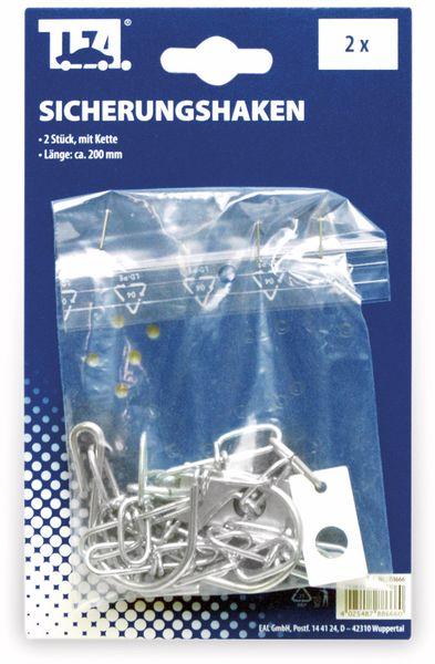 Sicherungshaken TFA, 2 Stück, mit Kette, 200 mm - Produktbild 3