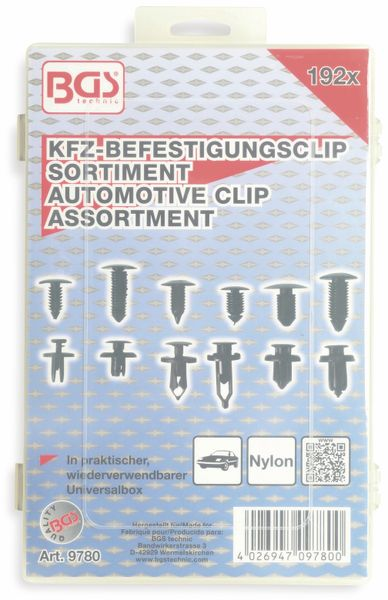 KFZ-Befestigungsclip-Set, BGS, 9780, universal, 192-tlg - Produktbild 4