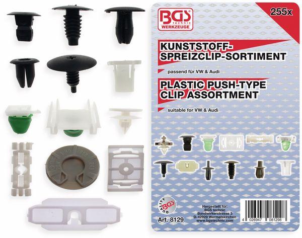 KFZ-Befestigungsclip-Set, BGS, 8129, für VW Fahrzeuge, 255-tlg