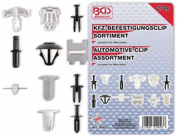 KFZ-Befestigungsclip-Set, BGS, 9043, für Mercedes-Benz, 270-tlg