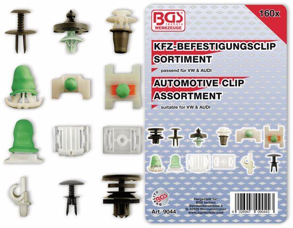 KFZ-Befestigungsclip-Set, BGS, 9044, für Audi, VW, 160-tlg