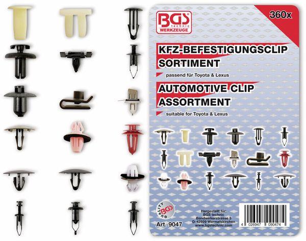KFZ-Befestigungsclip-Set, BGS, 9047, für Toyota, Lexus, 360-tlg
