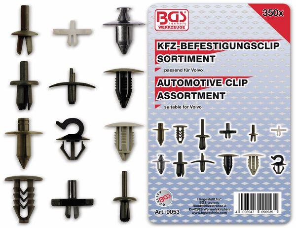 KFZ-Befestigungsclip-Set, BGS, 9053, für Volvo, 340-tlg