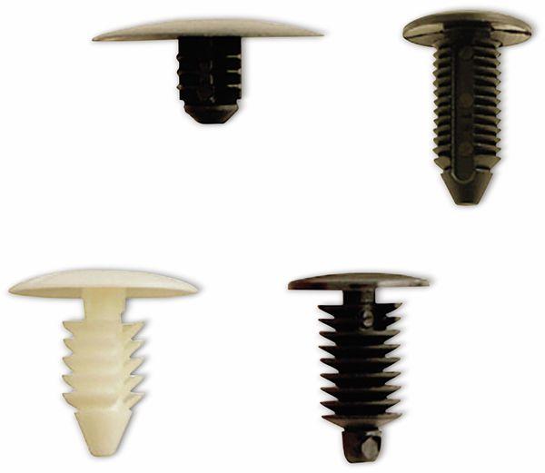 KFZ-Tannenbaumclip-Set, BGS, 9055, für GM, VW, Chrysler, BMW, Nissan, Ford, 340-tlg - Produktbild 3