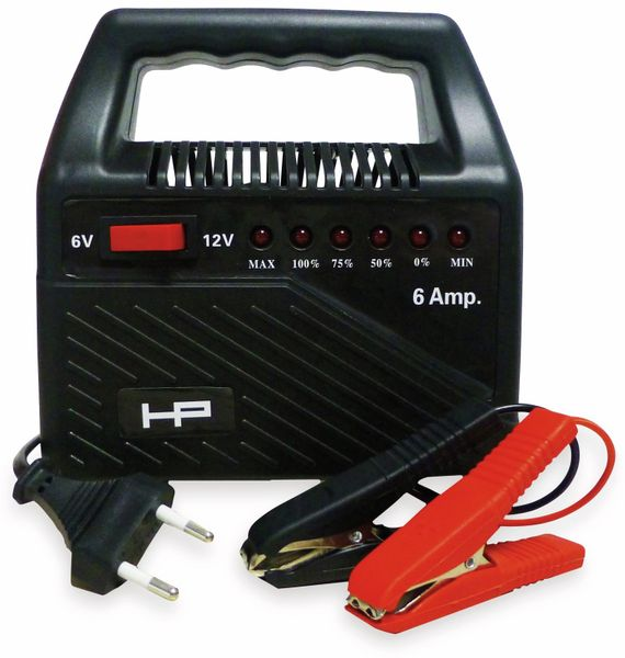 Batterie-Ladegerät HP AUTOZUBEHÖR 20502, 6/12 V-, 6 A
