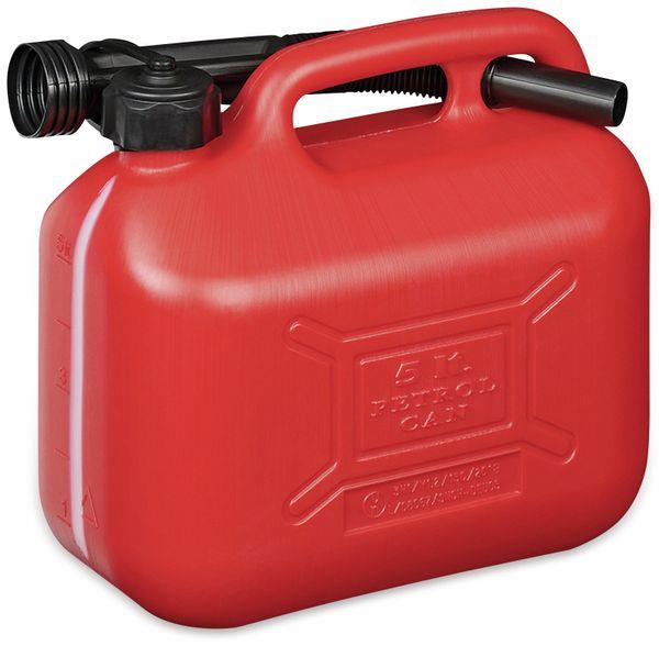 Benzinkanister IWH, 5 L, rot, mit Füllstandsanzeige