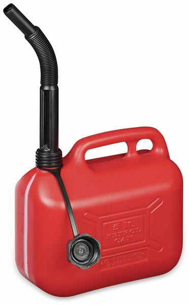 Benzinkanister IWH, 5 L, rot, mit Füllstandsanzeige - Produktbild 2