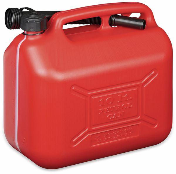 Benzinkanister IWH, 10 l, rot, mit Füllstandsanzeige