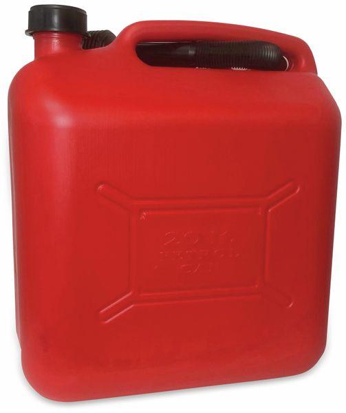 Benzinkanister IWH, 20 l, rot, mit Füllstandsanzeige