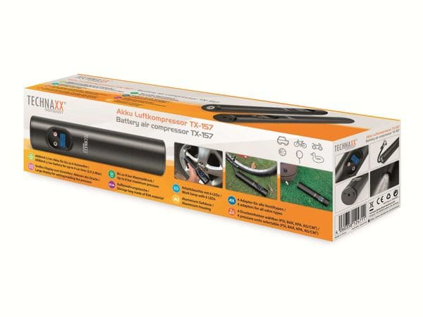 Luftkompressor TECHNAXX TX-157, 8 bar, Akku - Produktbild 9