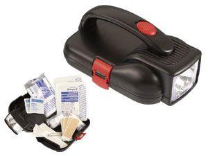 Taschenlampe mit Erste-Hilfe-Set