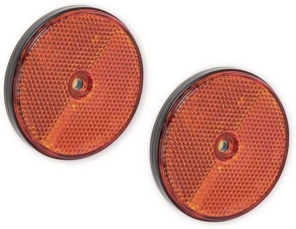 Reflektor, orange, 2-er Set