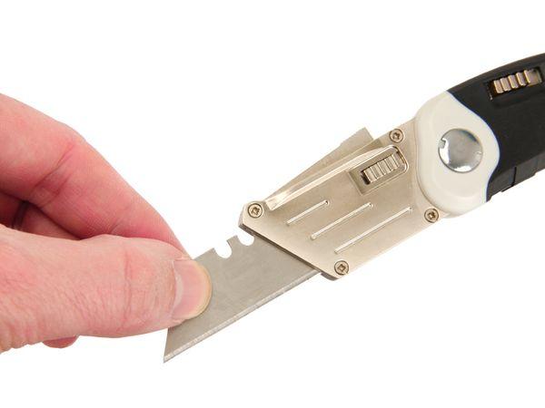 Klappmesser für Trapezklingen, mit 5 Ersatzklingen - Produktbild 4