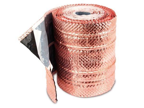 Dach-Kupferband mit 4 Längssicken, 5 m Rolle