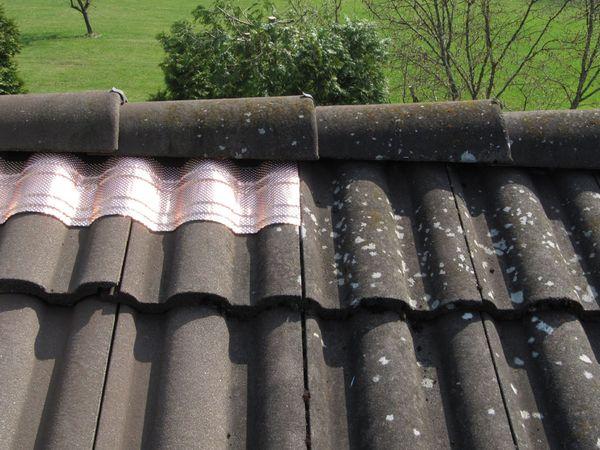 Dach-Kupferband mit 4 Längssicken, 5 m Rolle - Produktbild 2