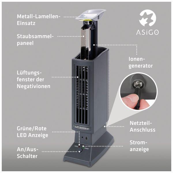 Luftreiniger, ionisierend, 45 qm, schwarz - Produktbild 3