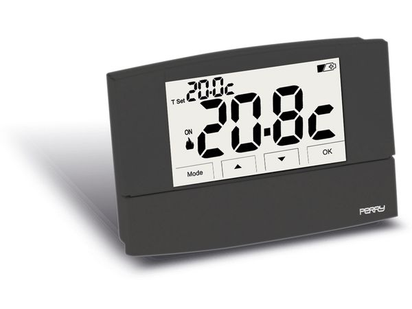 Digitales Raumthermostat SESAM-SYSTEMS/PERRY ZEFIRO 1TPTE526A, anthrazit