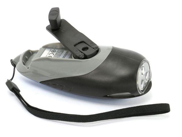 Dynamo-LED-Taschenlampe, 3 LEDs, verschiedene Farben - Produktbild 3