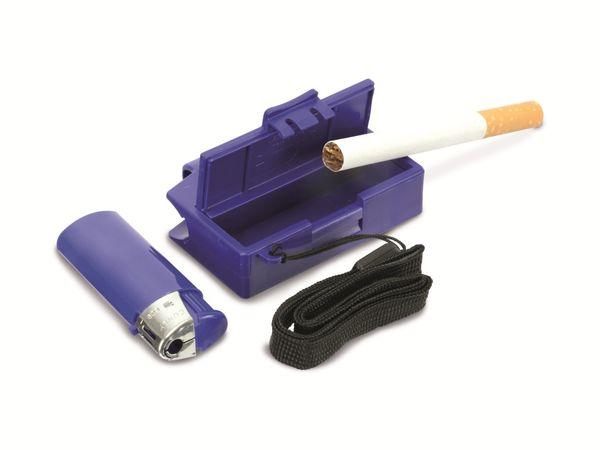 Feuerzeug mit Aschenbecher, blau - Produktbild 1