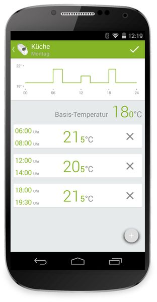 Heizkörper-Thermostatkopf EQIVA mit Bluetooth, 2 Stück - Produktbild 5