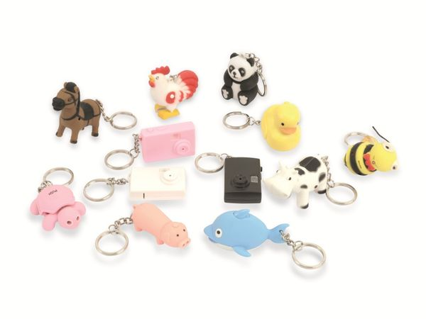 Schlüsselanhänger-Set, 12 Stück, verschiedene Motive - Produktbild 1