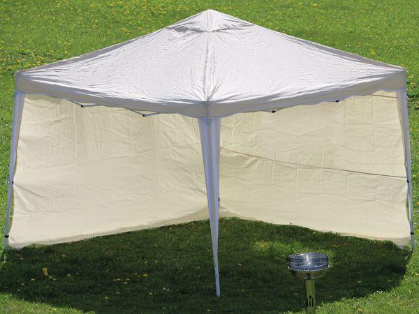 Aluminium-Faltpavillon mit 2 Seitenwänden, 300x300x260 cm, beige - Produktbild 2