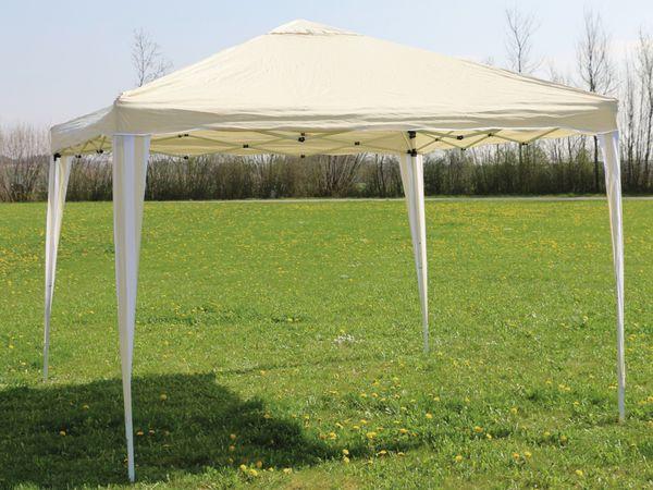 Aluminium-Faltpavillon mit 2 Seitenwänden, 300x300x260 cm, beige - Produktbild 7