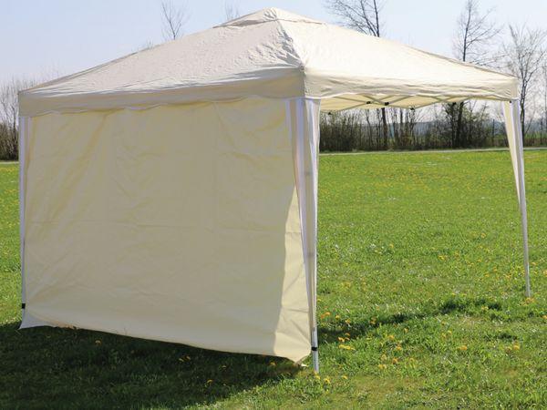 Aluminium-Faltpavillon mit 2 Seitenwänden, 300x300x260 cm, beige - Produktbild 8