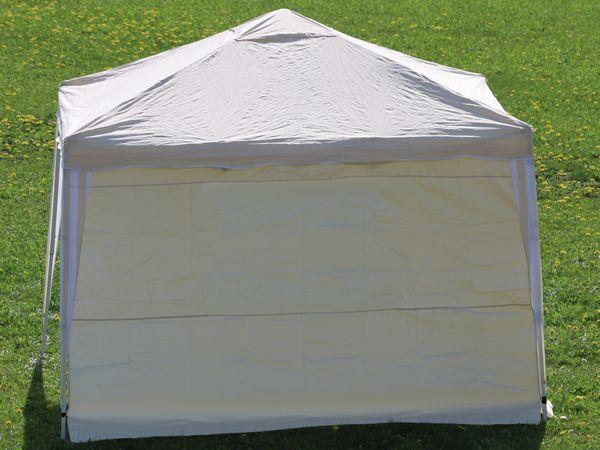 Aluminium-Faltpavillon mit 2 Seitenwänden, 300x300x260 cm, beige - Produktbild 9