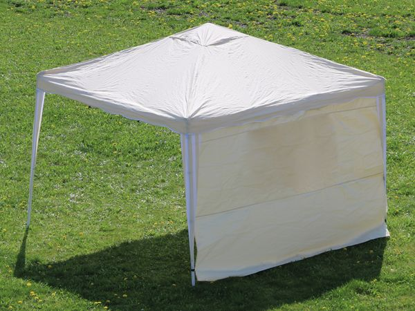 Aluminium-Faltpavillon mit 2 Seitenwänden, 300x300x260 cm, beige - Produktbild 11