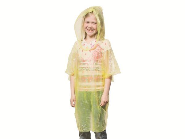 Kinder-Regenponcho mit Kapuze LIFETIME, gelb - Produktbild 2