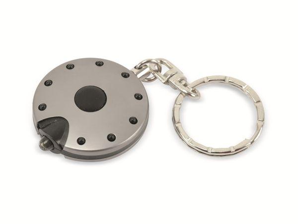 LED-Taschenlampe UFO, Schlüsselanhänger, weiße LED, anthrazit - Produktbild 1