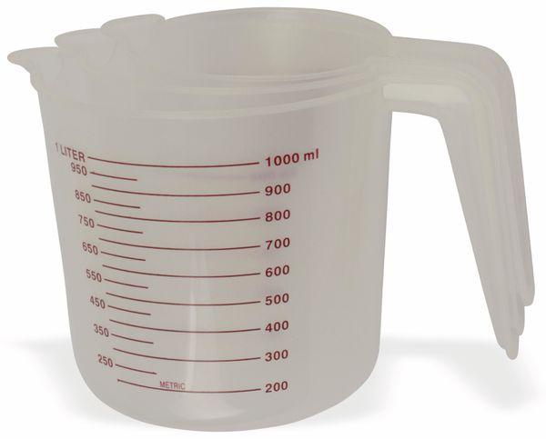 500ml 3-teiliges Messbecher Set Kunststoff 1 Liter 250 ml Skala Mehl Zucker