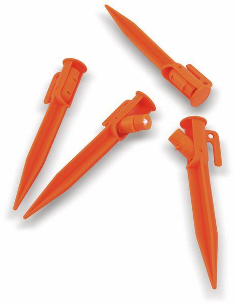 Zelthaken mit LED-Beleuchtung, orange, 4 Stück - Produktbild 1