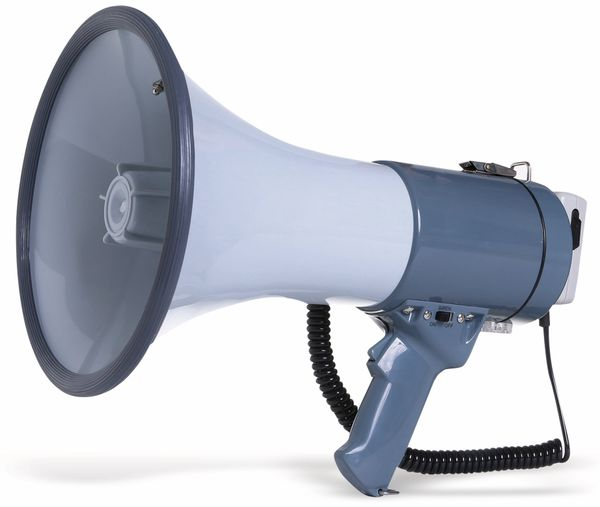 Megafon mit Handmikrofon PremiumBlue MF-50W/G, grau, B-Ware - Produktbild 1
