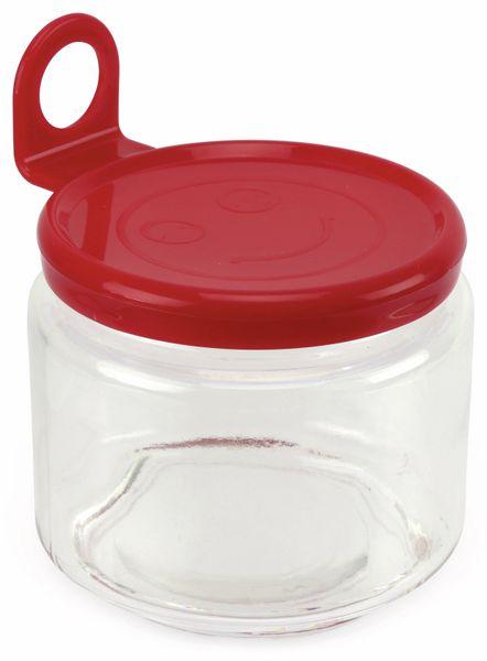 Glas mit Aufhänger, klein, 85x75 mm