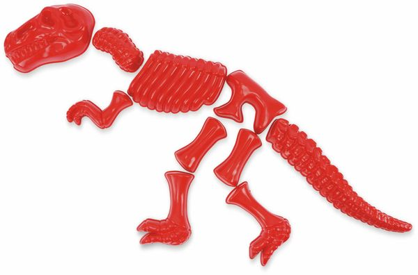 Sandform-Set, FILMER, 20546, Dinosaurier, T-REX, 10-teilig, rot