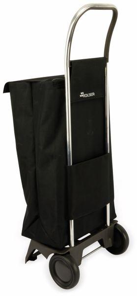 Einkaufstrolly ROLSER, Aluminium, extra leicht, schwarz - Produktbild 2