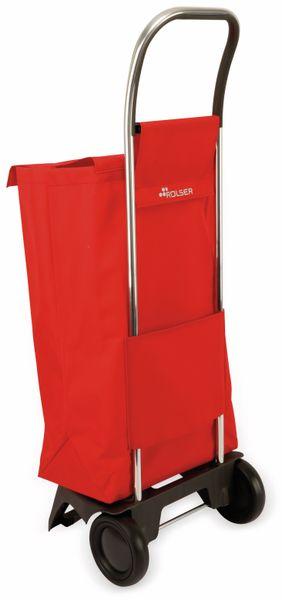 Einkaufstrolly ROLSER, Aluminium, extra leicht, rot - Produktbild 2