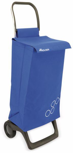 Einkaufstrolly ROLSER, Aluminium, extra leicht, blau - Produktbild 1
