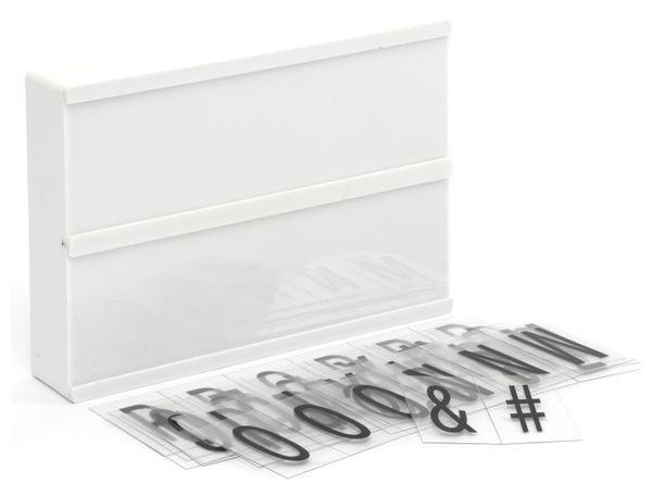 LightBox GRUNDIG, A6, 4 LED`s, 60 Letter, batteriebetrieb - Produktbild 3