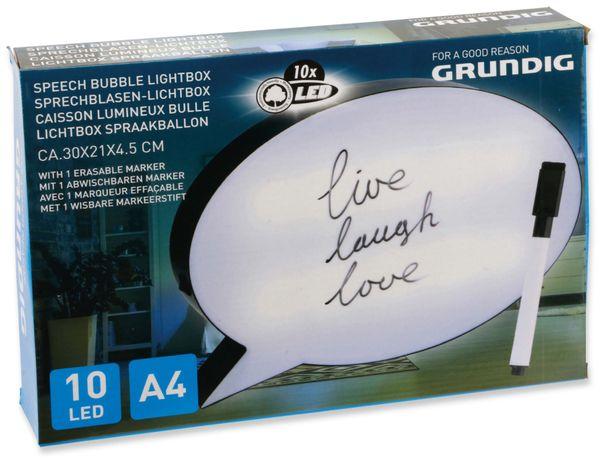 LightBox Sprechblase GRUNDIG, 10 LED´s, schwarz/weiß - Produktbild 2